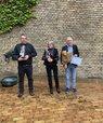 Årets undervisere på jura (fra venstre): Lars Henrik Gam Madsen, Helle Isager og Torsten Iversen. Foto: Sandra Skjelmose